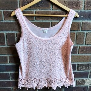 Mossimo supply lace front coral tank - runs small